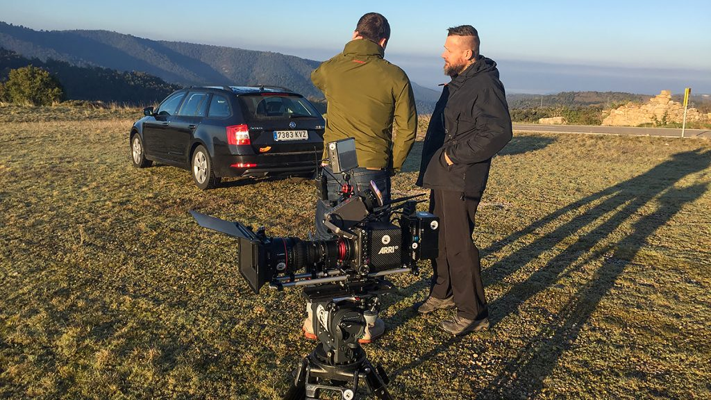 Picture - ShootOutside Film/Photo Production Services Spain Barcelona Pyrenees - Audi A4 with Crew