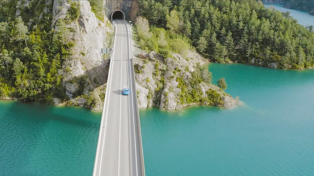 Picture - ShootOutside Film/Photo Production Services Spain Barcelona Pyrenees - Audi Q7 on a bridge