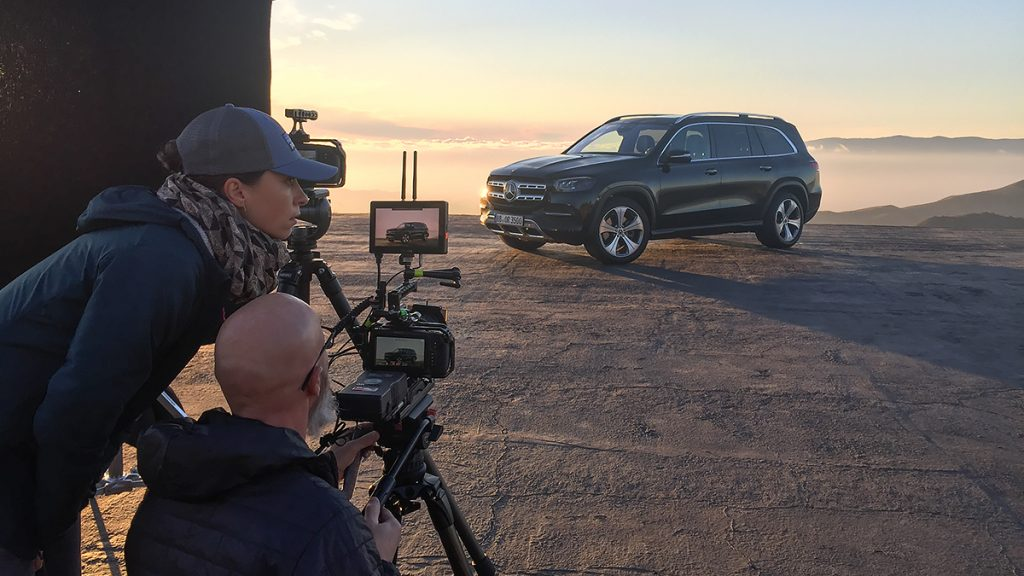 Picture - ShootOutside Studio One Film/Photo Car Platform Spain Andalusia - 2020 Mercedes Benz GLS with Crew